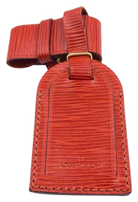 Louis Vuitton Rare Fawn Keepall Speedy Alma Epi Leather Luggage Tag with Loop Louis Vuitton Rare Fawn Keepall Speedy Alma Epi Leather Luggage Tag with Loop Image 1