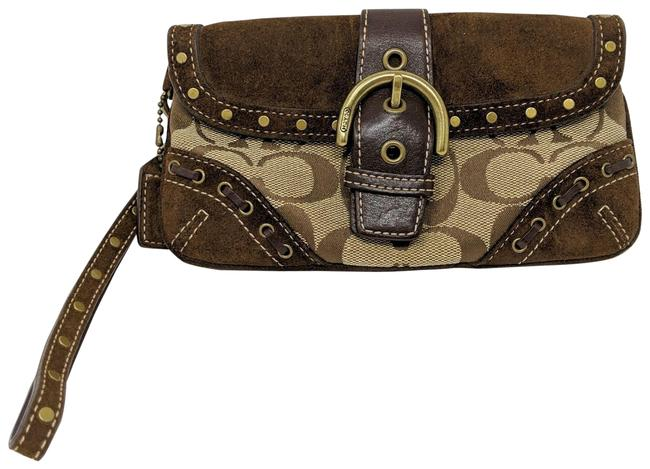 Coach Brown Leather Wristlet Coach Brown Leather Wristlet Image 1