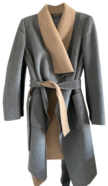 BCBGMAXAZRIA Wool Blend Grey and Beige Coat Size 0 (XS) BCBGMAXAZRIA Wool Blend Grey and Beige Coat Size 0 (XS) Image 1
