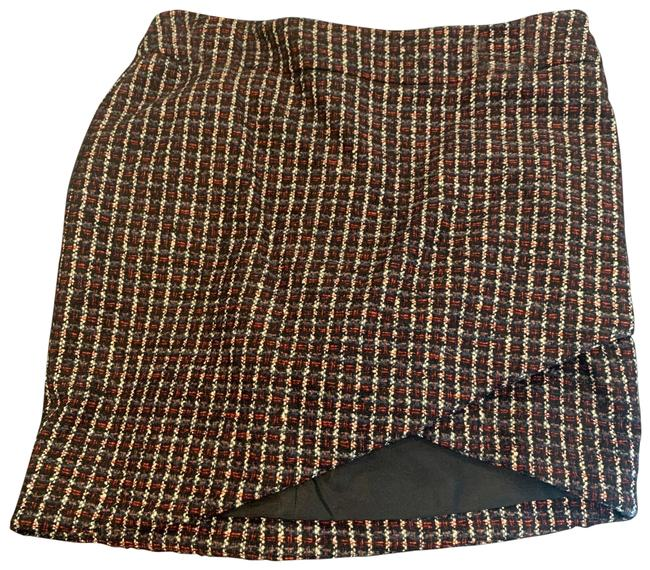 Item - Multi Color Black Red Cream Tweed Skirt Size 4 (S, 27)