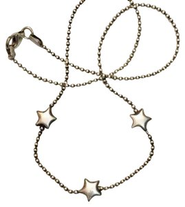 Unwritten Vintage sterling bead star necklace 15""