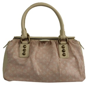 Louis Vuitton Leather Monogram Pink Tote in Light Pink