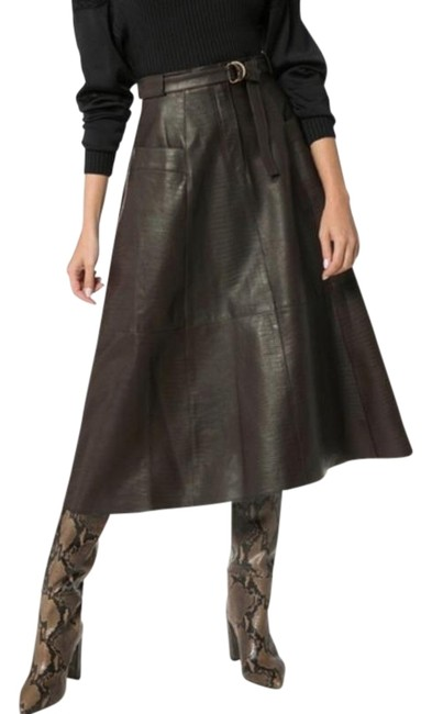 Item - Brown Lila Leather Skirt Size 0 (XS, 25)