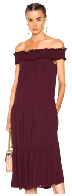 Item - Purple Red Off The Shoulder Mid-length Casual Maxi Dress Size 4 (S)