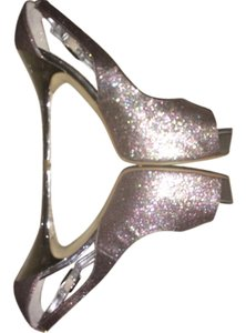 Guess Pink/silver Sparkle Pumps