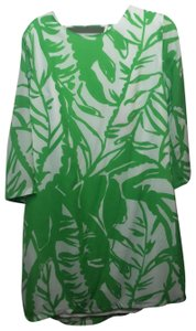 Lilly Pulitzer for Target short dress Green, White, Printed Vacation Vibrant Bright Comfortable Cover Up on Tradesy