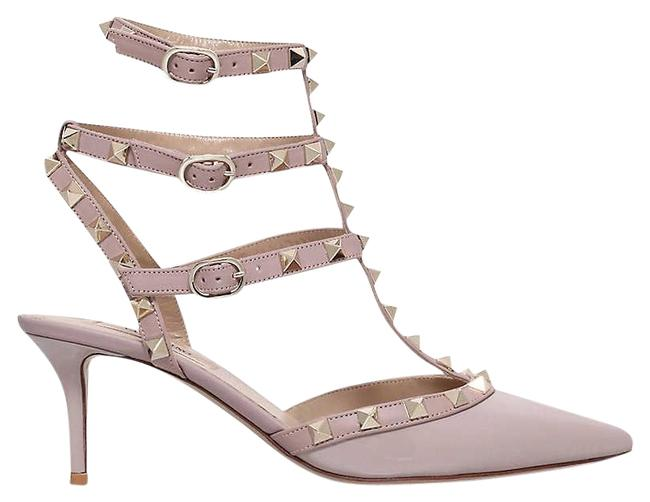 Item - Nude Garavani So Noir Patent-leather Heeled Sandals Size EU 39.5 (Approx. US 9.5) Regular (M, B)