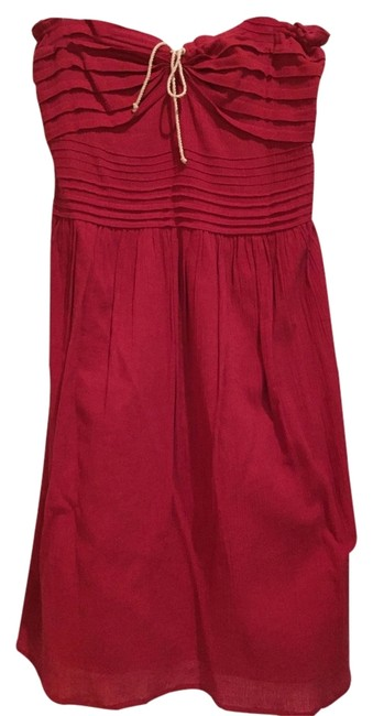 Other short dress Red Strapless Comfortable on Tradesy