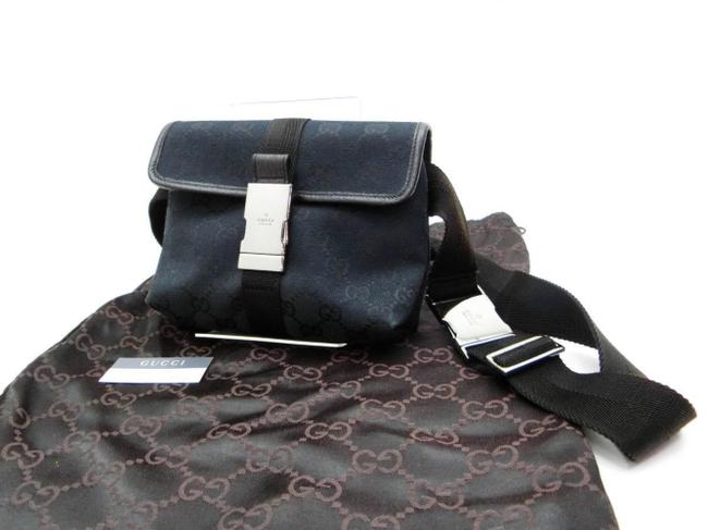 Item - Bum bag Monogram Belt Waist Pouch 240988 Black X Silver Gg Canvas Wristlet
