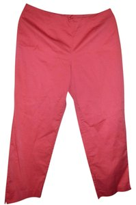Ruby Rd. Cotton/Spandex Comfortable Straight Pants red/orange