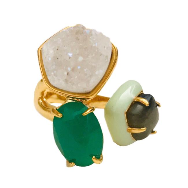 Item - Gold • Druzy Stone Cluster Cocktail Ring