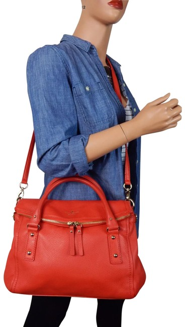 Item - Cobble Hill Small Leslie Red Leather Cross Body Bag