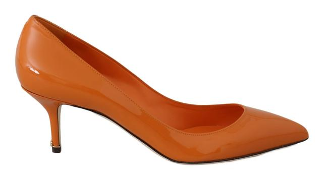 Item - Orange Patent Leather Different Pumps Size US 8.5 Narrow (Aa, N)