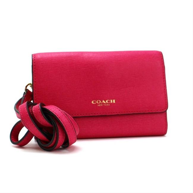 Item - Pink Crossbody Saffiano Leather Phone with Shoulder Women's Wallet