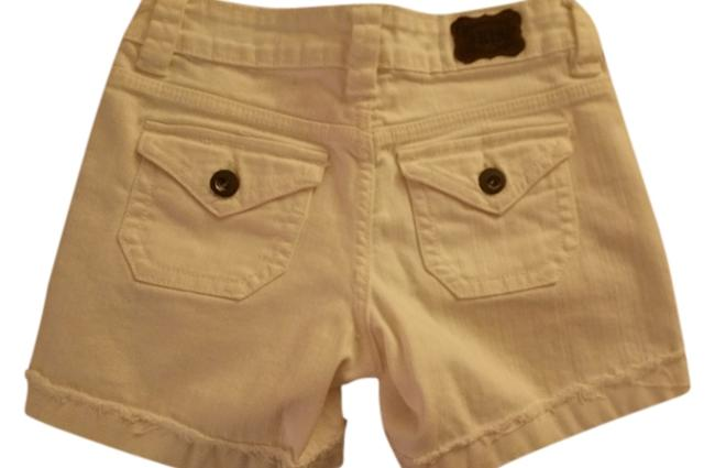 Other Distressed Denim Labeled Cuffed Shorts Size 1 White cuffed cut off
