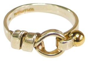 Tiffany & Co. Tiffany & Co. 18k Gold & Sterling Silver Love Knot Ring Size 7.5
