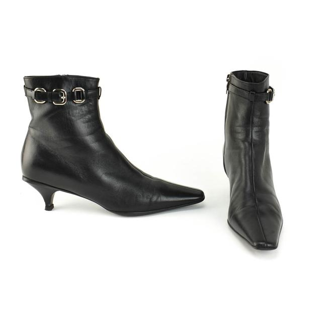 Item - Black Leather Logo Ankle Boots/Booties Size EU 38.5 (Approx. US 8.5) Regular (M, B)