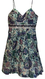 Walter by Walter Baker short dress Light Blue/Floral Comfortable Summer on Tradesy