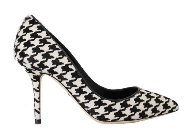 Item - Black and White Leather Dolce & Gabbana Pumps Size US 10.5 Narrow (Aa, N)