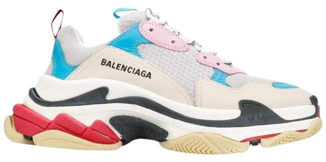 Item - White Pink and Blue Triple Sneakers Size US 6 Regular (M, B)