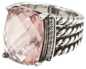 David Yurman David Yurman Petite Wheaton Morganite Diamond Ring Size 6