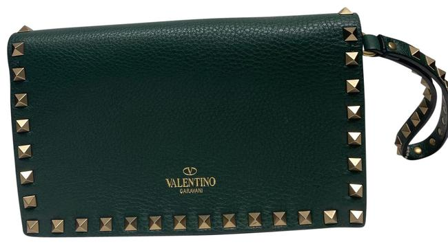 Item - Afro Beaded Green Leather Clutch