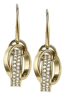 Michael Kors Clear Pave Link Earrings