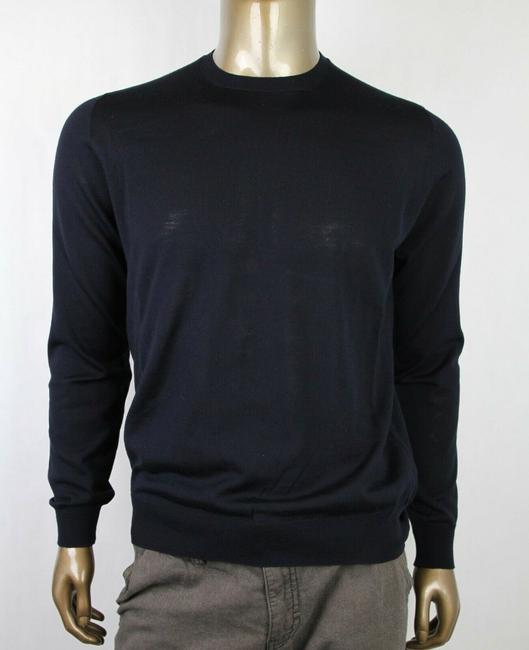 Item - Navy Men's Wool Crew-neck Pullover Sweater 50 Dna641 Groomsman Gift