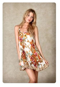 Free People short dress Floral Sequins Racer-back on Tradesy