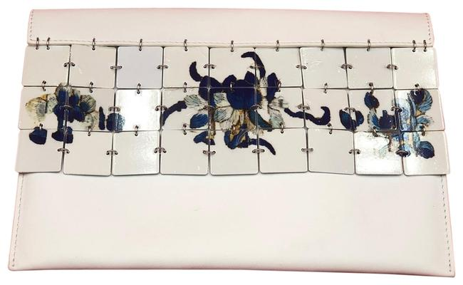 Item - Tiles White Leather Clutch