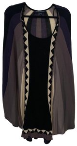 French Connection Top black, purple, cream, gray