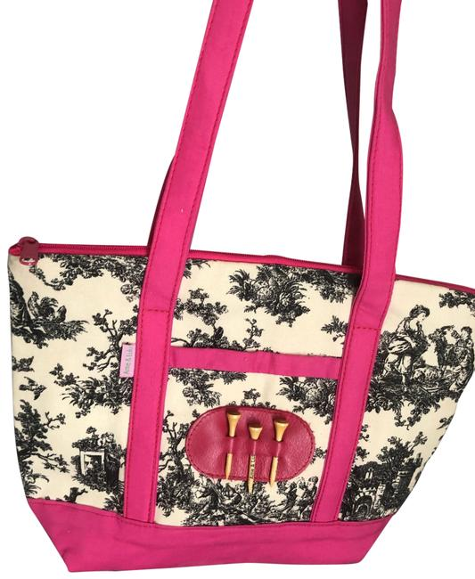Item - Ame&lulu Fabric Golf with Belt Pink Canvas Tote