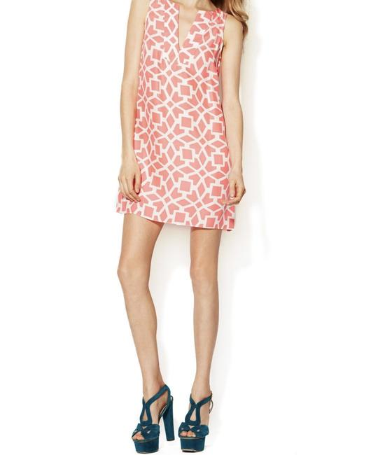 Item - Moroccan Tile Coral Celine Silk Shift Short Casual Dress Size 4 (S)