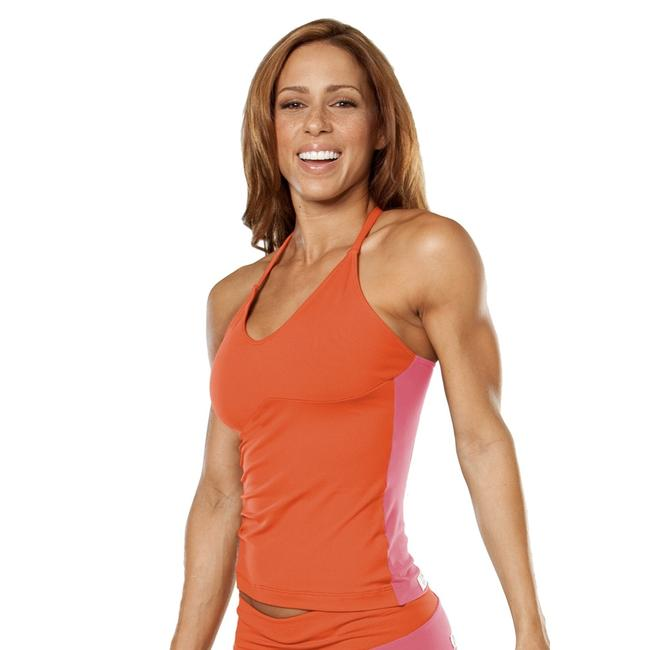Item - Orange Pink Racer Doll Dual Activewear Top Size 4 (S)