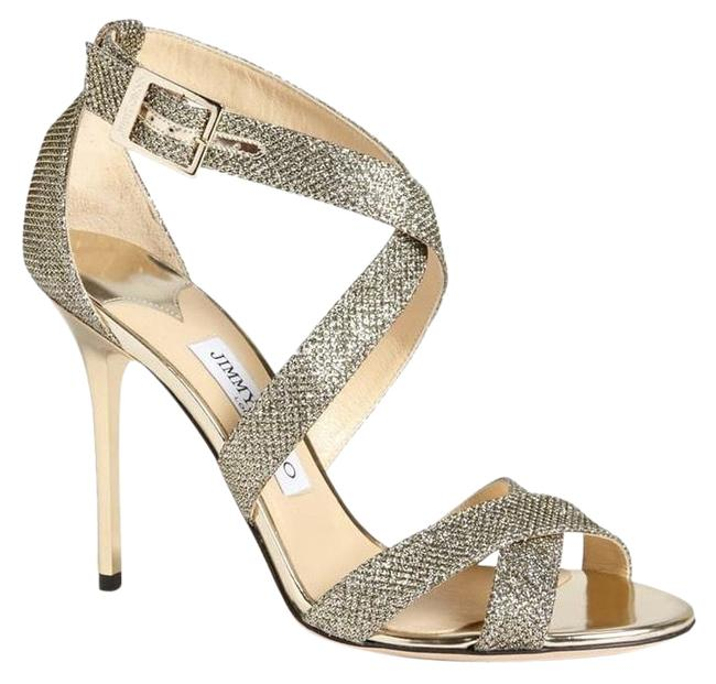 Item - Champagne Glitter Gold Lottie Sandal Formal Shoes Size EU 40 (Approx. US 10) Regular (M, B)