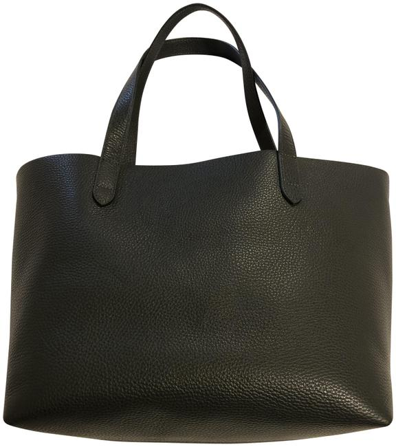 Item - Small Structured Forest Green Pebbled Leather Tote