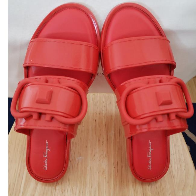 Item - Coral Red with Buckle Accent Sandals Size US 9 Wide (C, D)