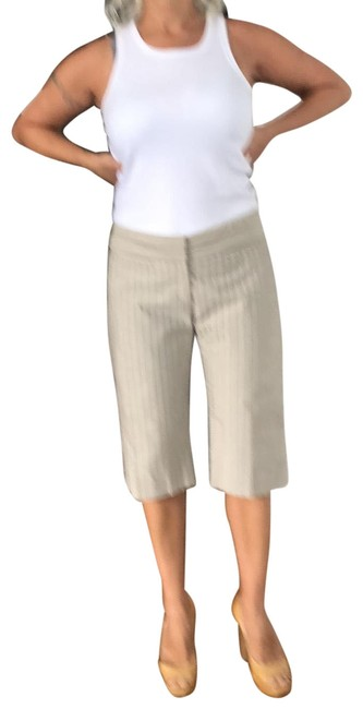 Item - Beige with The Light Strips Shorts Pre Owned Excellent Condition Trouser/Wide Leg Jeans Size 10 (M, 31)