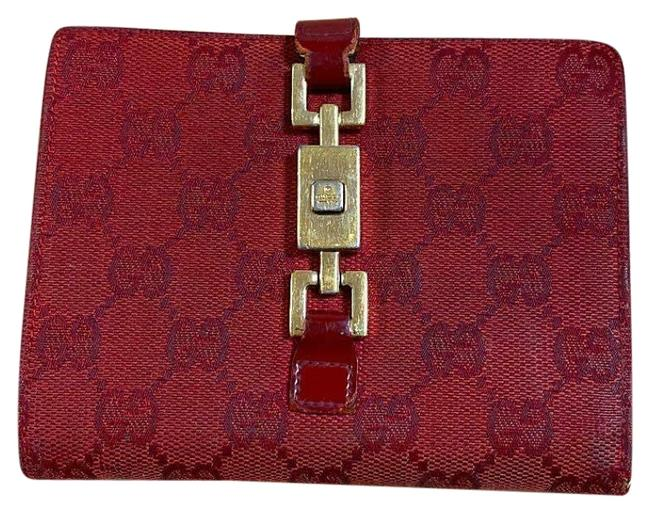 Item - Red ssima Print/Gold Jackie O Style Wallet
