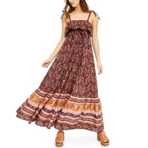 Dark combo/Brown Maxi Dress by Free People