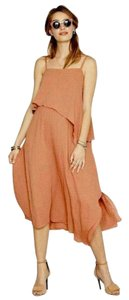 Hatch Layered chiffon dress