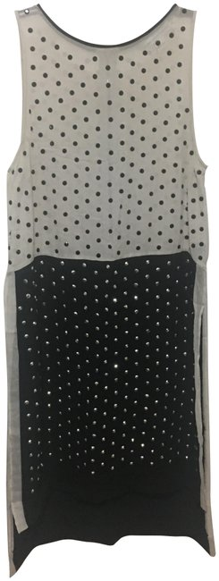 Item - Black and Off White Abrielle Crystal Short Night Out Dress Size 2 (XS)