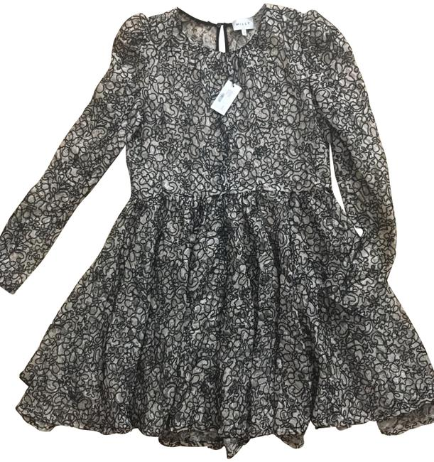 Item - Black and Pink Aria Corded Lace Short Cocktail Dress Size 10 (M)
