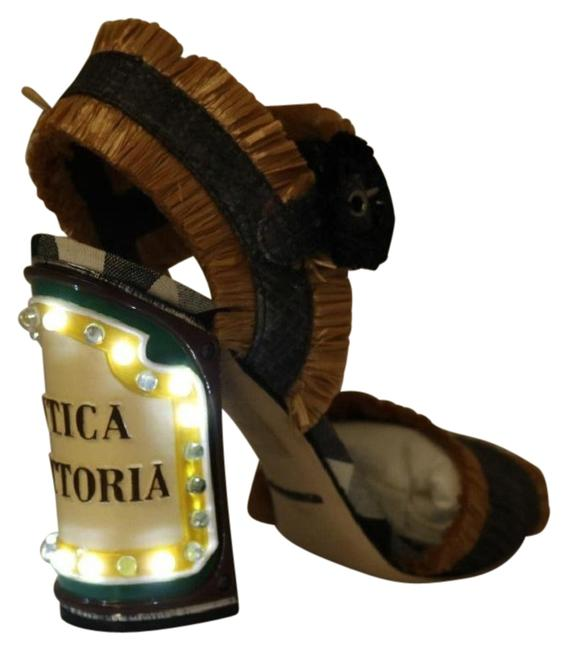 Item - Beige and Gray Led Lights Antica Trattoria Dolce & Gabbana Sandals Size US 9.5 Narrow (Aa, N)