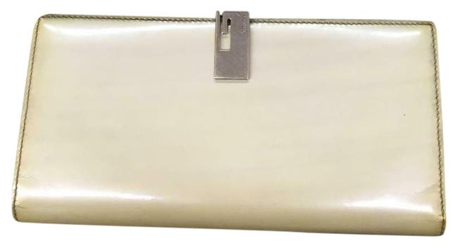 Item - Iridescent Ivory Leather XL Continental Bi-fold Wallet