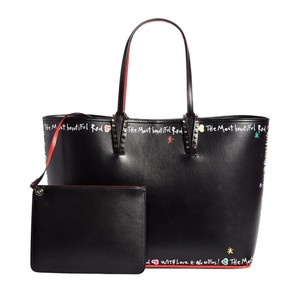 Christian Louboutin Leather Spike Tote in Black Multi