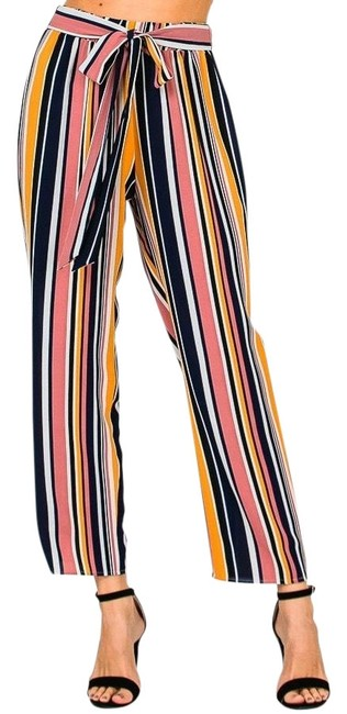 Item - Multi Striped Cropped Pants Size 4 (S, 27)