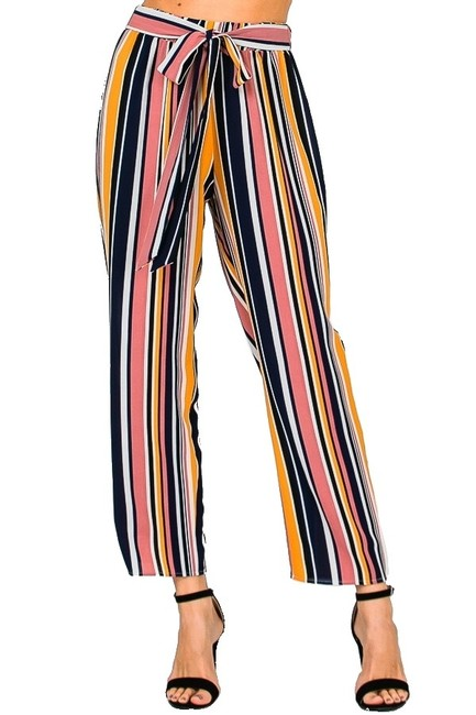 Item - Multi Striped Cropped Na Pants Size 12 (L, 32, 33)