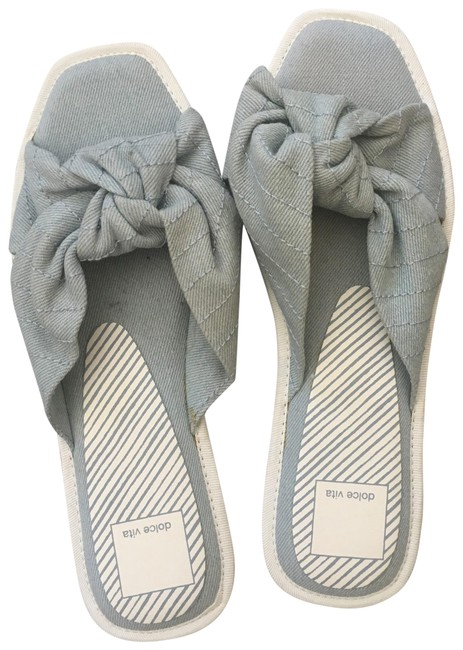 Item - Gray New Knotted Slide Square Toe Sandals Size US 8 Regular (M, B)