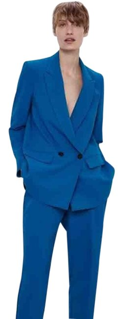 Item - Blue Double Breasted Buttoned Blazer Size 10 (M)